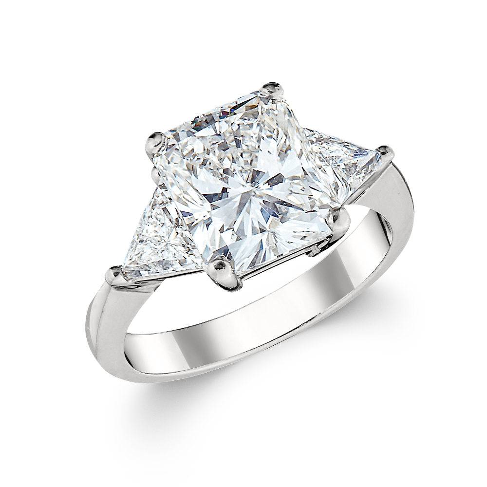engagement diamond ring radiant cut ctw h