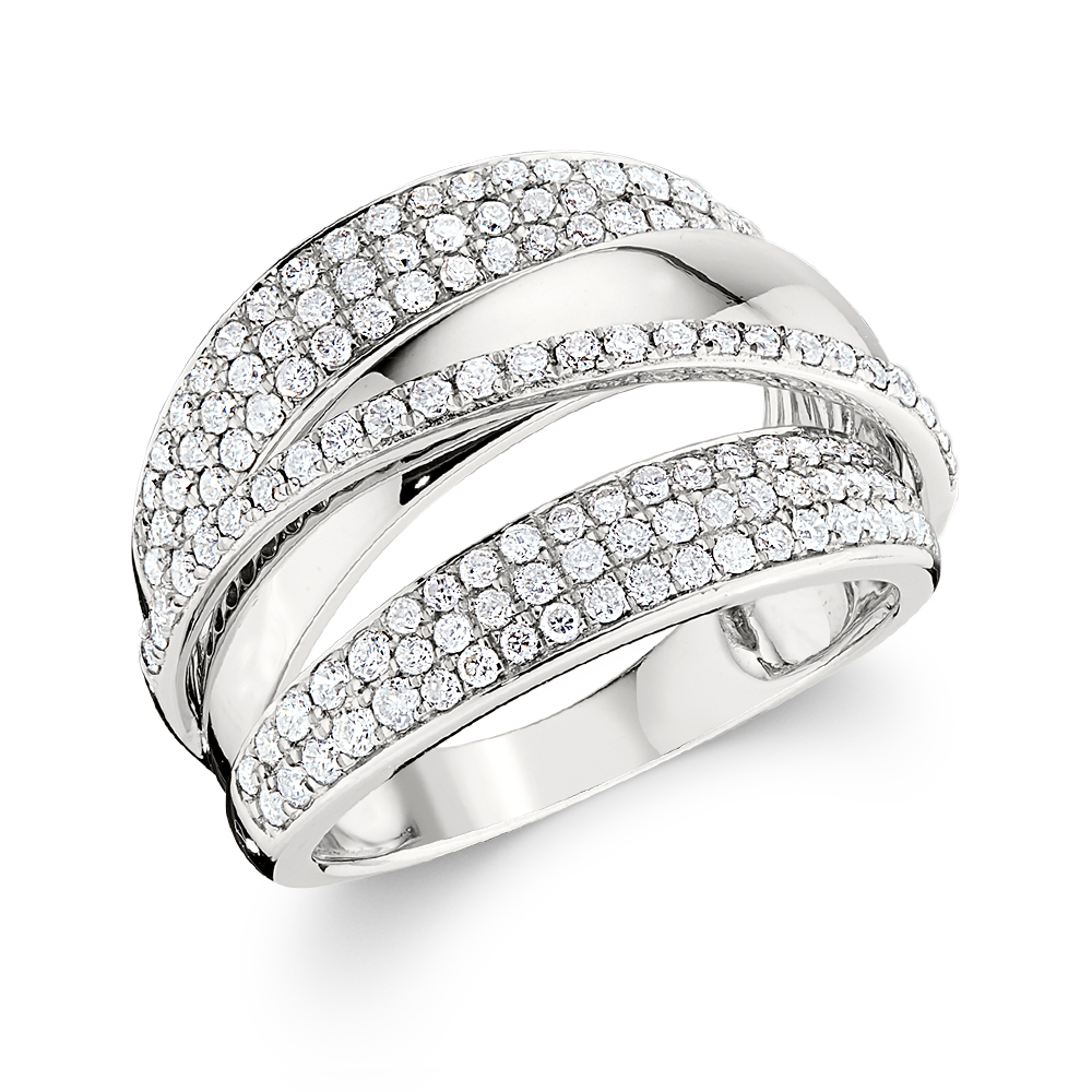 Wide Pave Diamond Band Bryant Sons Ltd